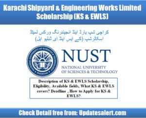 Karachi Shipyard & Engineering Works Limited Scholarship 2021