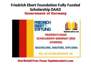 Friedrich Ebert Foundation Scholarship Program Germany 2021