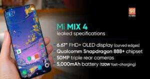 Xiaomi Mi Mix 4 Launches, Specs, Full Specifications 4